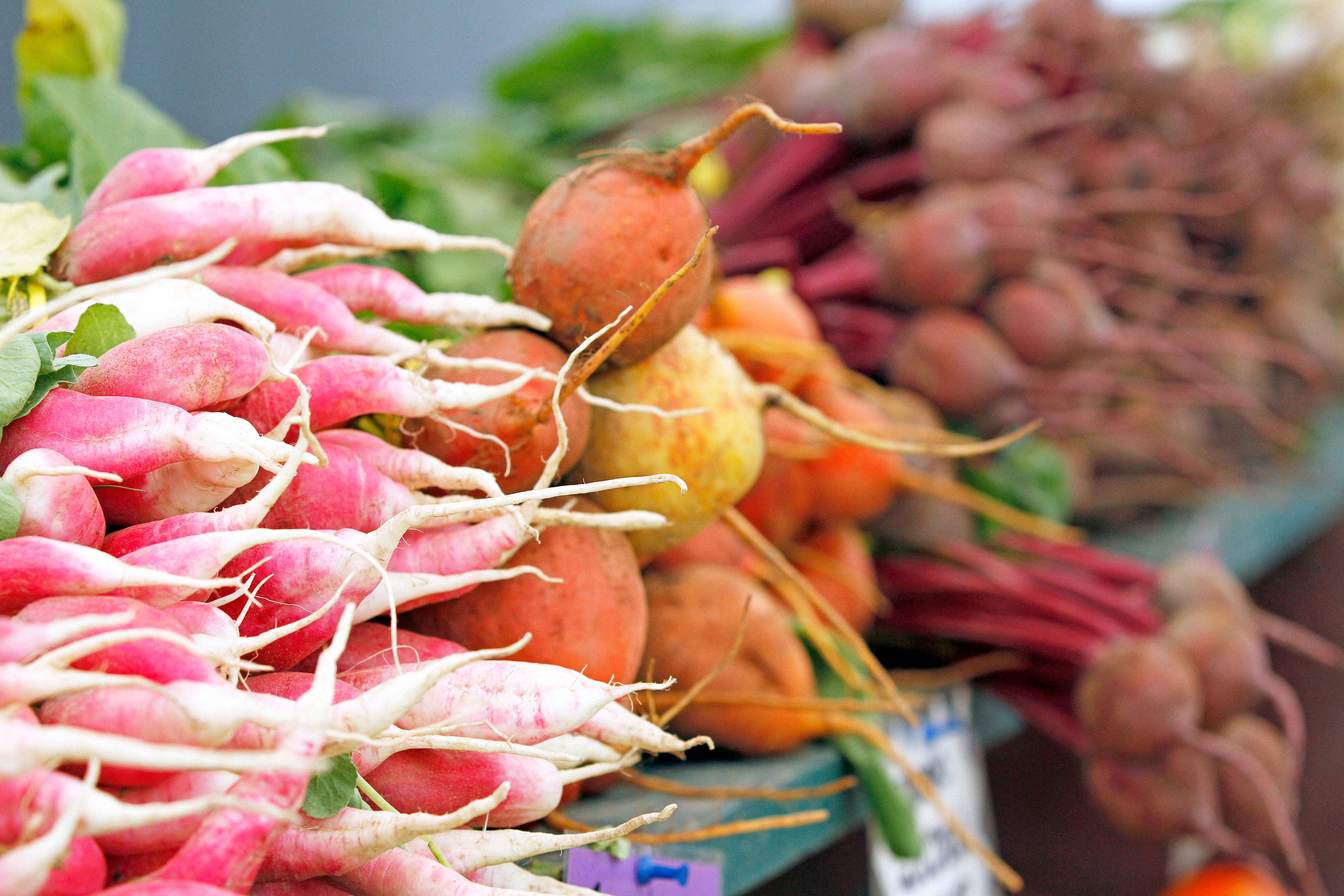 Fresh produce at the Lenox Farmers Market.