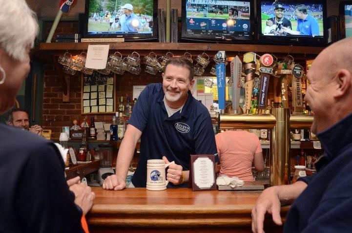 Todd McLenithan tends bar at Kevin's. Photo: Caroline Bonniver Snyder