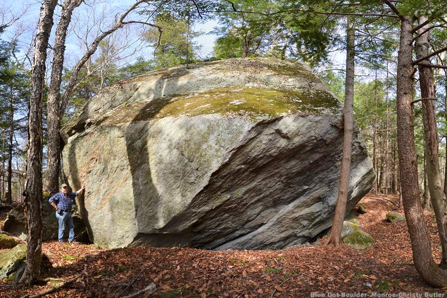 Blue Dot Trail Boulder #3 Dunbar Brook Monroe St Forest MA  4X6w.jpg