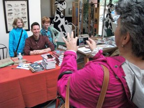 """Tim Federle, author of the youth novel """"Better Nate Than Ever,"""" poses for photos with fans. Photo: Kevin O'Connor"""
