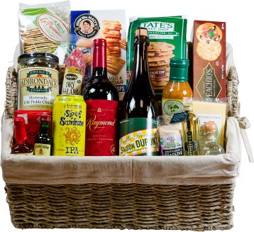 Sure to bring a smile to the face of any recipient! Choose one of many pre-designed baskets or customize it to their taste! The knowledgeable staff at Kelly's can guide you through hundreds of hand selected wines, boutique spirits, craft beers, artisan cheeses, and gourmet specialty products to create the perfect gift. Baskets start at $19.99. Kelly's Package Store 653 Main St., Dalton, Mass. 413-684-0870 kellyspackagestore.com