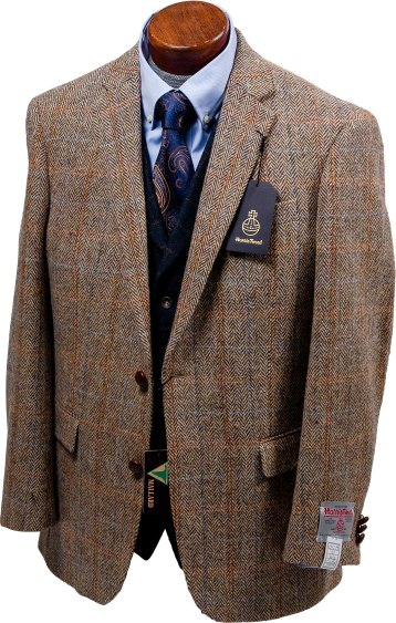 Harris Tweeds are made from 100% pure new wool dyed, spun and handwoven at the home of the weaver and finished in the Outer Hebrides of Scotland and shipped directly to Millers Bros.-Newton. Miller Bros.-Newton 109 Main St., Brattleboro, Vt. 802-254-2287 mbnmenswear.com
