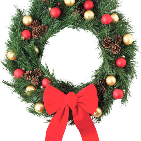 """Dutton's own fresh-cut balsam and pine wreaths come in sizes from 10""""-72"""". Special orders are welcome! Visit any of the three Dutton Farm Stands starting in mid-November to watch the wreath- making process. Starting at $10. Available at all locations. Dutton Farm StandRte. 30 Newfane, Vt. Rte. 9 West Brattleboro, Vt.Rte. 11 & 30 Manchester, Vt.802-362-3083 duttonberryfarm.com"""