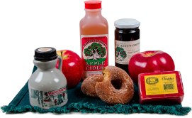 Local and homemade food items, featuring Bartlett's specialty homemade cider, cider donuts, assorted baked goods and apples straight from the Bartlett's orchard. Bartlett's Orchard 575 Swamp Road, Richmond, Mass. 413-698-2559 bartlettsorchard.com
