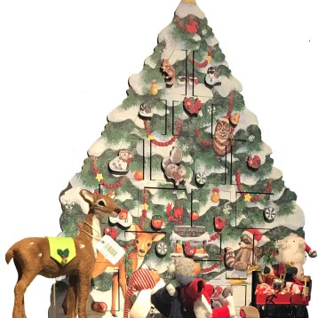 Hand made in Pennsylvania, this wooden advent calendar delights children of any age, year after year! $118. The Red Lion Inn Gift Shop 30 Main St., Stockbridge, Mass. 413-298-1623 redlioninn.com
