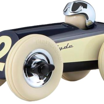 Cool, hip and totally rock 'n' roll, the stunning Clyde racing car is a real head-turner, much like the hot rod cars upon which it is modeled. A Playforever classic, to be treasured for generations. $48. Tom's Toys 297 Main St., Great Barrington, Mass. 413-528-3330 tomstoys.com