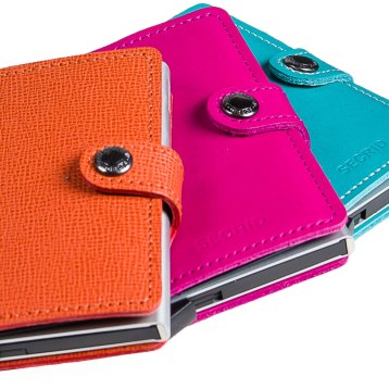 RFID protected leather wallets for women and men, featuring pop-up credit card mechanism. $90-$149. Casablanca 21 Housatonic St., Lenox, Mass. 413-637-2680