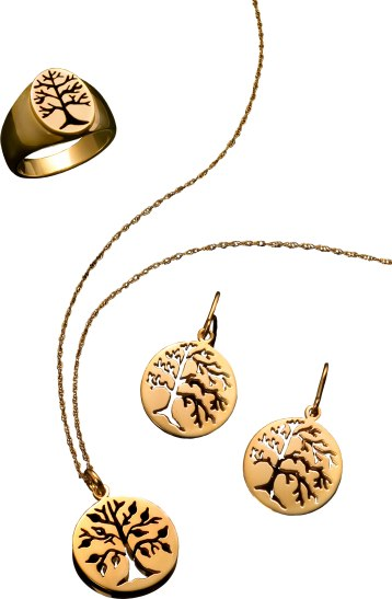 Designed and made by hand in Lenox, Mass. Pendants, rings, and earrings available in 14K gold and sterling silver. Rings can be made in sterling silver, 14K or a combination of sterling with a gold top. Chains are sold separately. $85-$1,400. Laurie Donovan Designs 81 Church St., Lenox, Mass. 413-637-1589 lauriedonovan.com
