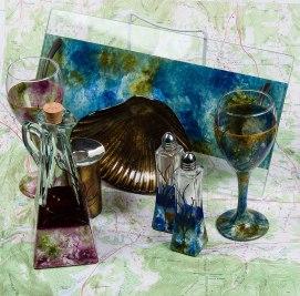 Handmade art pieces include blessing plaque, Kaddish cup, Crudités platter, shell bowl and salt and pepper shaker set. $38-$68. LenoxPrint & Mercantile 11 Housatonic St., Lenox, Mass. 413-637-2234 LenoxPrintAndMercantile.com