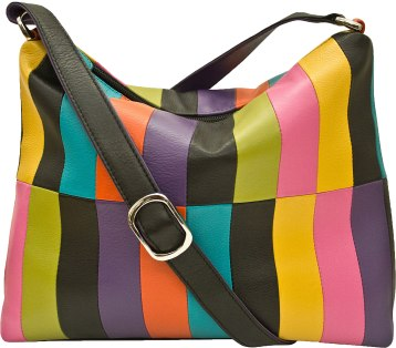 Leather handbag in bright fashion colors. Choose from a wide range of available accessories, including wallets and eyeglass cases. $90. Museum Facsimiles Outlet Store 31 South St., Pittsfield, Mass. 413-499-1818 museumoutlets.com