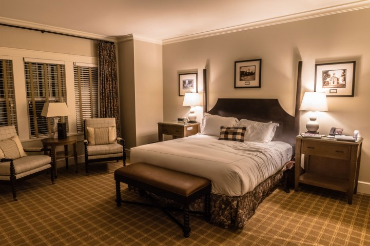 In your room, you'll find rustic comfort alongside modern conveniences like USB charging stations.