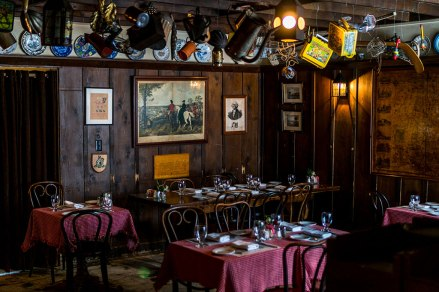 You may feel a faint urge to foment revolution within the wood walls of the historic Widow Bingham's Tavern. Photo: George Forbes.
