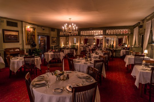 The Red Lion's formal dining room brings a sense of luxury to compliment the more relaxed vibe of the tavern. Photo: George Forbes