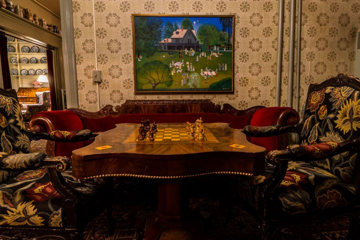 On snowy days guests can entertain themselves with an extensive collection of puzzles and games, or with a round of chess in the lobby.. Photo: George Forbes