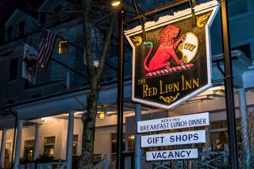 The Red Lion Inn is known not just for its extensive history, but for the warm and hospitality to be found within. Photo: George Forbes