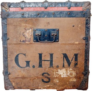 G.H.M.: The initials of George Hale Morgan, brother-in-law of financier J.P. Morgan. The 'S.' is believed to denote first initial of his wife, Sarah Spencer Morgan, who built the 28-room summer cottage, Ventfort Hall, in Lenox, Mass. Photo: Stephanie Zollshan.