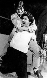 "William Devane and Al Pacino in ""Does a Tiger Wear a Necktie?"" 1967. Photo courtesy of BTF."