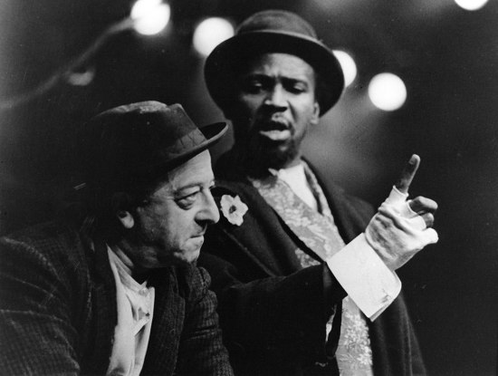 "Louis Gossett Jr. and Will Lee in ""Waiting for Godot,"" 1966. Photo courtesy of BTF."