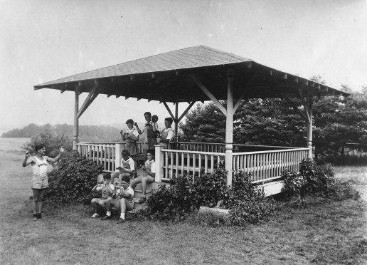 Leonard Bernstein conducting the Camp Onota Rhythm Band in Pittsfield, 1937. Berkshire Eagle photo