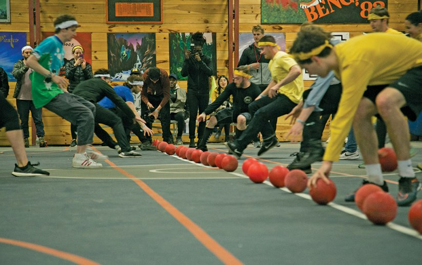 In addition to being a music festival, Welcome Campers recreates 'summer camp' experiences for adults. Among the activities is dodge ball. Photo provided by The Wild Honey Pie