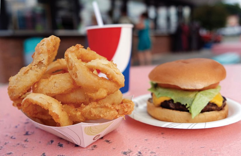 Among Billy T's Northside Dairy Bar's bestsellers are Bill's cheeseburger, homemade onion rings, and a Captain Eli's root beer. Berkshire Eagle File Photo