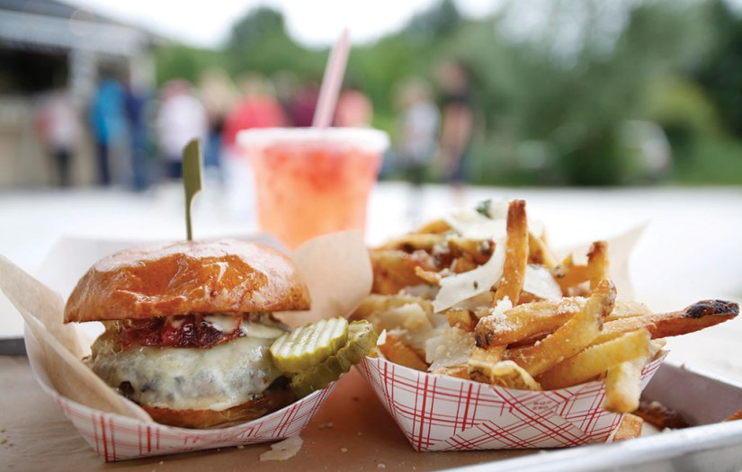 The 'BOX Burger' with Parmesan truffle fries and strawberry lemonade are among the most popular items at The Bistro Box Berkshire Eagle File Photo.