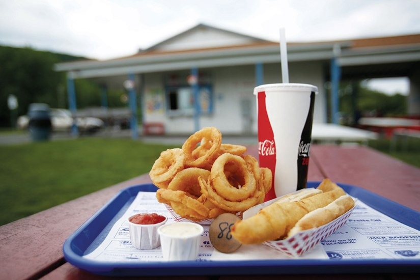 At Pedrin's Dairy Bar, the fish fry and onion rings have been customer favorites and a menu staple for over five decades. Berkshire Eagle File Photo