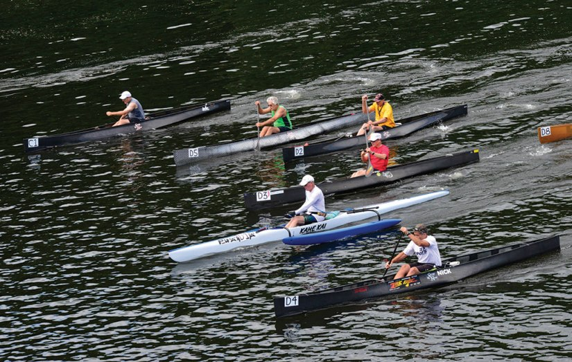 "In this photo from July 2017, participants compete in the first ""Brattle Paddle."" Brattleboro Reformer File Photo"