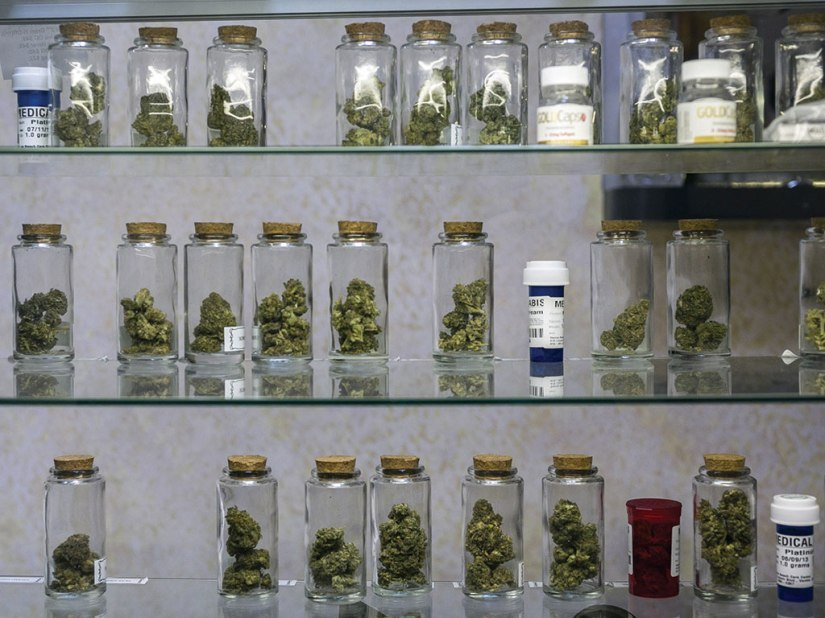 Medical marijuana, like that displayed in this 2013 file photo at Venice Beach Care Center in Venice, Calif., is legal in New York, New Hampshire, Connecticut and Vermont. Photo: The Associated Press