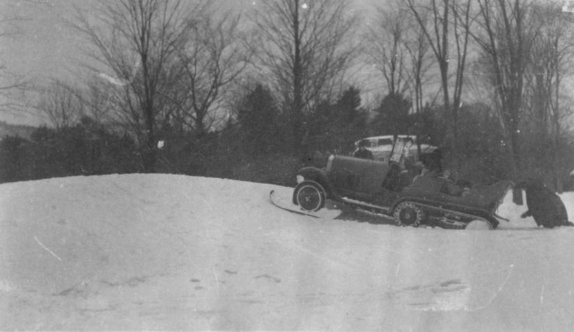 When his first Autoneige proved underpowered, Bishop persuaded French automaker Andre Citroën to modify another vehicle with a more powerful Alfa Romeo engine. Still, deep snow at his Lenox estate in 1926 obliged him to ask for a human push.