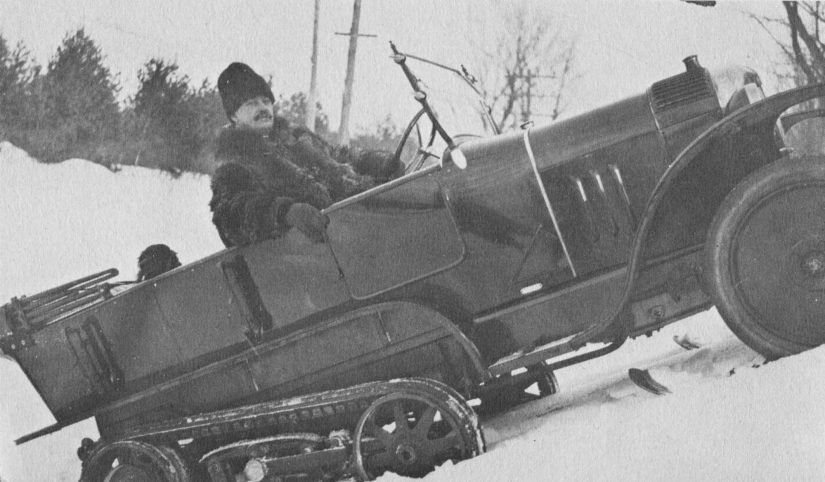 Cortlandt Field Bishop, of Lenox, was joyous to drive his Société Citroën-Kégresse-Hinstin K1 on- and off-road in the Berkshire and environs in winter.