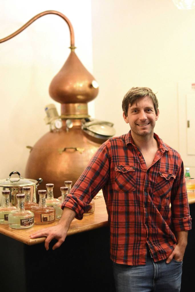 Distiller Ryan Max Riley runs Ski Bum Rum Distillery in North Adams, which is located at Greylock Works.